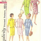 Simplicity #4859 Misses 1960s Suit w/ Boxy Jacket & Slim Skirt in 3 Views Bust 34 Pattern