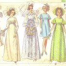 Simplicity #8144 Misses 1960s Empire Wedding Party Dresses w/ Sweeping Back Bust 34 Pattern