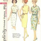 Simplicity #5355 Misses 1960s Proportioned Slim Skirt Belted Dress in 2 Views Bust 32 Pattern