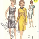 Butterick #3740 Misses Side Buttoned Coat Dress & Ascot~3 Views Bust 32 FF Pattern