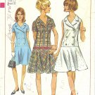 Simplicity #7005 Misses 1960s Single or Double Breasted Low Waist Dress Bust 32 Pattern