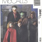 McCalls #3941 Childs Phantom-Vampire-Werewolf-Frankenstein Costumes Sz 8-10 FF Pattern