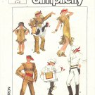Simplicity #7642 Childs Lone Ranger / Tonto / Indian Girl Costumes Silver & Scout Sz 6-8 Pattern