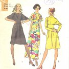 Simplicity #5060 Misses 1970s Pretty Dolman Slv Dress in 3 Views Bust 32 1/2 Pattern