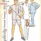 Simplicity #5039 Mens 1950s Pajamas in 2 Lengths & Nightshirt Chest 34-36 Pattern
