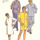 Simplicity #9433 Mens Sleepwear 1970s Lounge Set / Pajamas / Nightshirt Chest 42-44 Pattern