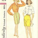 Simplicity #3520 Misses 1960s Button Front Shirt & Walking Shorts Bust 36 Pattern