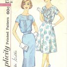 Simplicity #3401 Misses 1960s Slenderette Dress w/ 4 Gore Flared or Slim Skirt Bust 34 Pattern