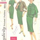 Simplicity #3106 Misses Slim Dress w/ Scarf & Reversible Jacket Ensemble Bust 34 Pattern