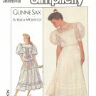 Gunne Sax Simplicity #8610 Misses Lace Trimmed Balloon Slv Full Dress Bust 38 FF Pattern