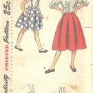 Simplicity #2716 Girls Vintage 1940s Box Pleated Skirt w/ Suspender Option Sz 10 Pattern