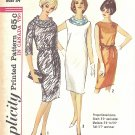 Simplicity #5356 Misses 1960s Slim Dress w/ Smoke Ring Scarf & Self Belt Bust 34 Pattern