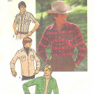 Simplicity #7698 Mens 1970s Casual Snap or Button Front Shirt / Jacket Chest 48 FF Pattern