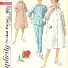 Simplicity #5205 Misses Robe / Brunch Coat / Pajama Set w/ Rose Applique Bust 36 Pattern