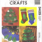 McCalls Crafts #3425 Christmas Tree Card Holdeer / Stocking / Pillow / Tree Skirt FF Pattern