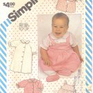 Simplicity #6257 Baby Layette - Dress / Gown / Top / Shoes / Bib Sz 1 - 18 Mths FF Pattern