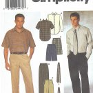 Simplicity #9468 Mens Dress or Sport Shirt / Pants / Shorts / Neckties Chest 46 - 52 FF Pattern