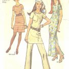 Simplicity #9348 Misses 1970s Knit T-Shirt Tunic w/ Pants or Dress in 2 Lengths Bust 36 Pattern