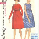 Simplicity #5463 Junior Petite 1960s Empire Dress  w/ Optional Bow Belt Bust 32 FF Pattern