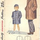 Simplicity #2347 Boys Vintage 1940s Coat in 2 Styles & Cap Size 8 Pattern