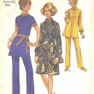 Simplicity #9085 Misses 1970s Pantsuit in 2 Versions or Dress Bust 34 Pattern