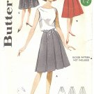 Butterick #2295 Junior 1960s Box Pleated  Full Skirts in 3 Views Waist 25 1/2 FF Pattern