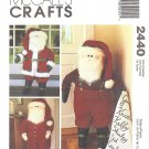 "McCalls #2440 40"" Santa Door Greeter w/ Traditional Suit or Long Johns FF Pattern"