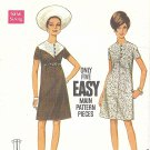 Butterick #4904 Misses 1960s A-Line Dress w/ Yoke Detail in 2 Views Bust 32 1/2 Pattern