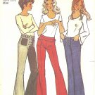 Simplicity #9977 Misses 1970s Hip Huggers w/ Great Waist Detail - 3 Views Waist 26 1/2 Pattern