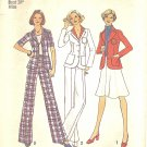 Simplicity #6876 Misses 1970s Unlined Jacket w/ 2 Slv Lengths / Pants / Skirt Bust 38 Pattern