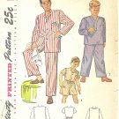 Simplicity #2548 Boys 1950s Pajamas in 3 Views w/ Long or Short Option Size 6 Pattern