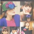 Butterick #6654 ReTrO 1980s Floral Accessories & Floral Trims - 20 Projects FF Pattern