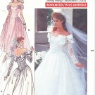 Butterick #3513 Misses 1980s Off Shoulder Wedding Gown or Bridesmaid Dress Sz 6-8-10 FF Pattern