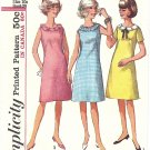 Simplicity #5936 Sub-Teen 1960s A-Line Dress w/ Collar Interest - 3 Views Bust 29 Pattern