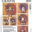"McCalls #7229 15"" Soft Sculpture Wreaths w/ Seasonal Icon Doll Trims FF Pattern"