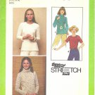 Simplicity #8661 Misses 1970s Pullover Stretch Knit Tops in 4 Views Size 10-12-14 Pattern