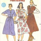 Butterick #6240 Misses 1970s Fast & Easy Drawstring Waist Jumper or Dress Sz 10-12-14 FF Pattern