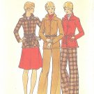 Butterick #3863 Misses 1970s Belted Jacket / Flared Skirt / Straight Leg Pants Sz 12 FF Pattern
