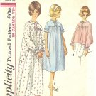 Simplicity #5193 Misses 1960s Comfy Long or Short Nightgown & Bed Jacket Bust 38 Pattern