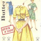 Butterick #2638 Teen 1960s Quick 'N Easy Shirtdress-Full or Slim Skirt in 3 Views Bust 32 FF Pattern