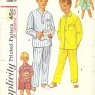 Vintage Simplicity #1434 Boys 1950s Pajama Sets in Two Lengths Size 12 Pattern