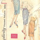 Vintage 1950s Simplicity #2975 Misses Trimmed Slim Skirts-3 Views W 28 Pattern