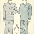 1940s Advance #2377 Mens Pajama Sets w/ Pullover Top Sz Large Vintage Pattern
