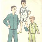1950s Advance #8487 Boys Winter or Summer Pajama Sets-3 Views Size 14 Pattern