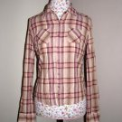 NWOT Pacsun  Tilt Pink Plaid Button Up Shirt MEDIUM