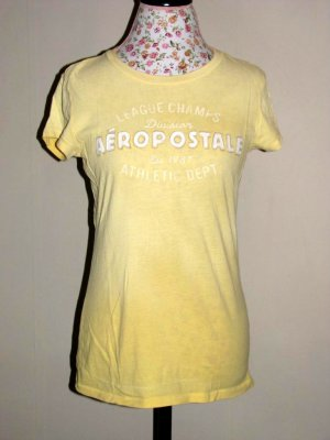 Pre-Owned Aeropostale Yellow Logo Top LARGE