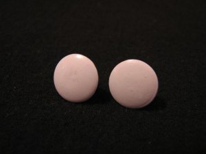 Vintage Small Round Purple Lavender Pierced Earrings