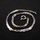 Vintage Silver Tone Delicate Box Chain Link Bracelet