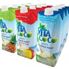 Vita Coco Coconut Water Variety Pack (Natural, Mango and Peach, Pineapple), 16.9-Ounce (Pack of 12)