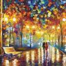 Walk in a Rainy night----1000 Large Piece Wooden Jigsaw Puzzle